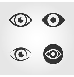 Eye icons set flat design vector