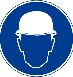 Hard hats must be worn safety sign vector