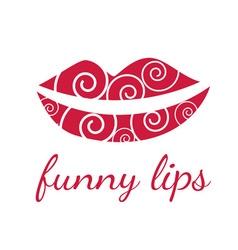 Funny lips symbols vector