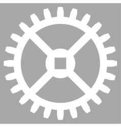 Clock gear icon vector