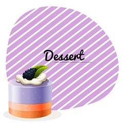 Blueberry cake and text design vector