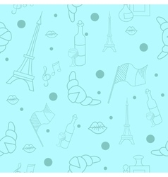 French symbols seamless pattern vector