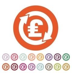 The currency exchange pound sterling icon cash vector