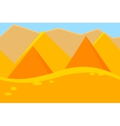 Cartoon landscape of desert pyramids for game vector