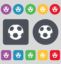 Football icon sign a set of 12 colored buttons vector