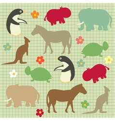 Abstract natural animal vector