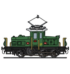 Old electric locomotive vector