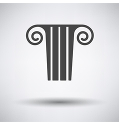 Antique column icon on gray background vector