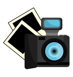 Colorful photo camera and photos graphic vector