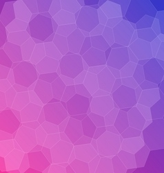 Abstract pink blue background with hexagons vector