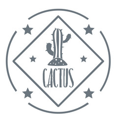Cactus logo vintage style vector