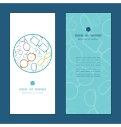 Colorful glasses vertical round frame vector