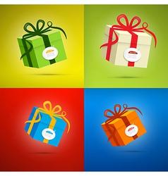 Colorful Present Box Gift Box Set vector image vector image