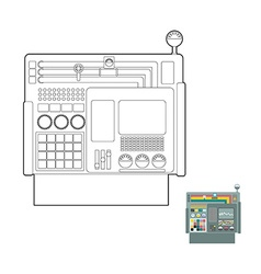 Control system system center panel for production vector