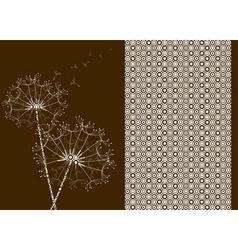 dandelions pattern effect vector image