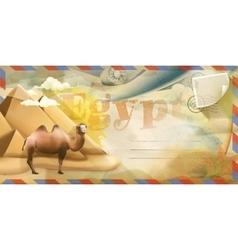 Egypt postcard vector image