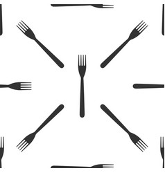 fork icon seamless pattern on white background vector image vector image