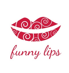 Funny lips symbols vector image