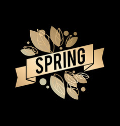 Golden spring design big vector