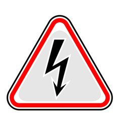 high voltage sign triangular sticker vector image