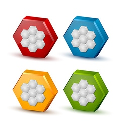 Honeycomb icons vector image