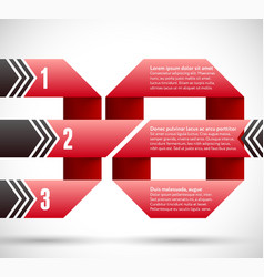 Infographic with ribbon spiral and pointers vector image vector image