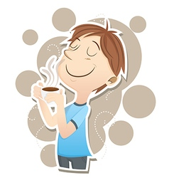 Inhale coffee vector