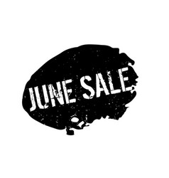 June sale rubber stamp vector