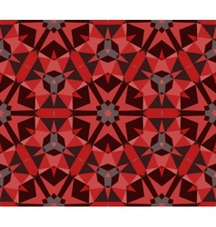 Multicolor geometric pattern in rich red vector image