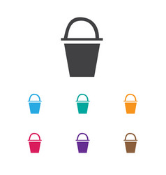 Of travel symbol on bucket vector