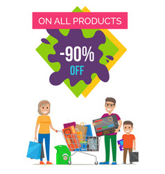 On all products 90 off banner vector