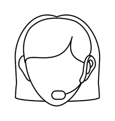 Operator woman avatar customer service vector