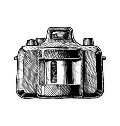 panoramic swing-lens camera vector image vector image