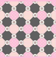 pattern flowers geometry pastel theme vector image