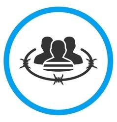 Prisoners circled icon vector