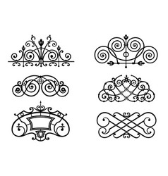 set of forged lattices vector image