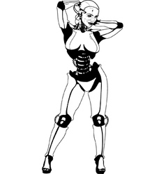 Sexy Android Robot vector image
