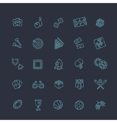 Simple set of games related line icons vector image vector image