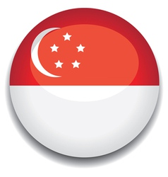 singapore flag vector image vector image