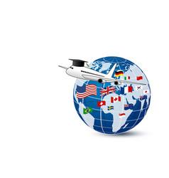 Study abroad concept design vector