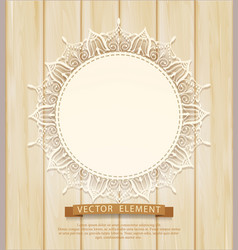 vintage background with a circle of lace vector image vector image