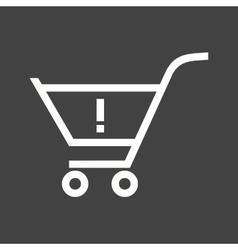 Warning Cart vector image