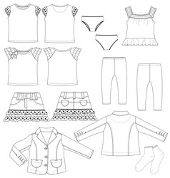 Womans set vector image vector image