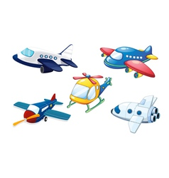 Various air planes vector