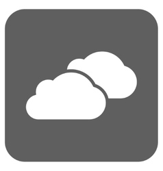 Clouds flat squared icon vector
