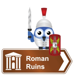SIGN ROMAN RUINS vector image