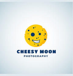 Cheese moon photography abstract sign vector