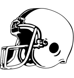 Mg00104 football helmet vector