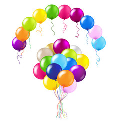 Balloons colorful set vector