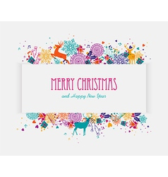 Merry christmas colorful banner vector